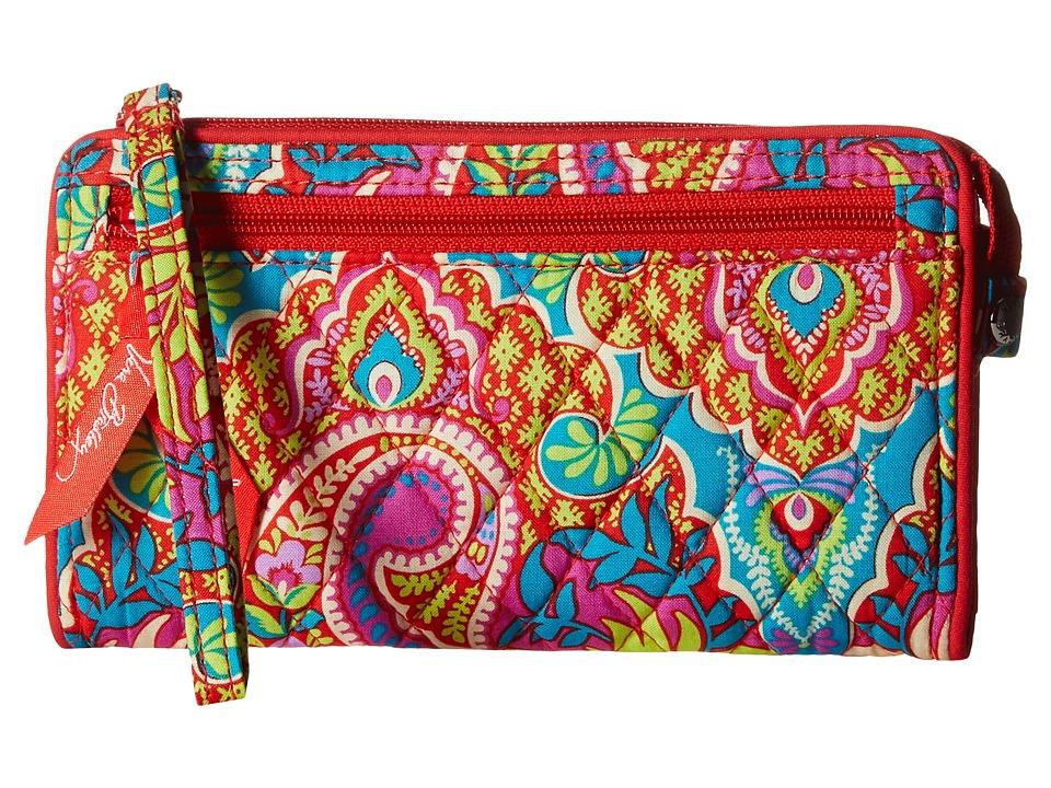 Vera Bradley - Front Zip Wristlet (Paisley in Paradise) Wristlet Handbags