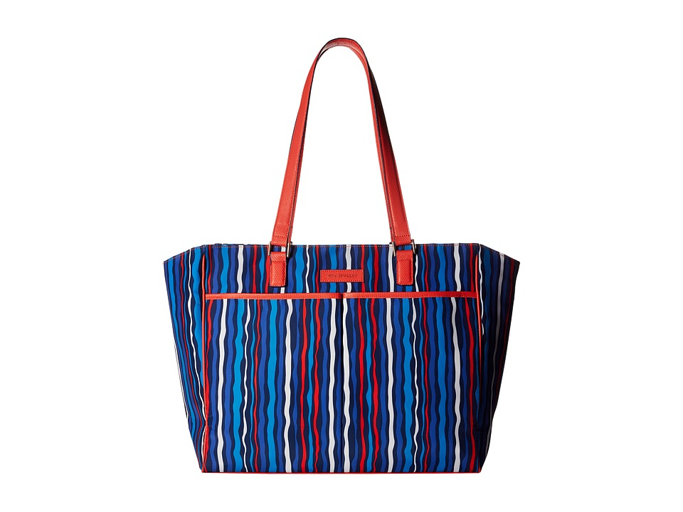 Vera Bradley - Preppy Poly Uptown Baby Bag (Cobalt Stripe) Diaper Bags