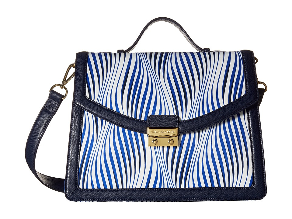 Vera Bradley - Change It Up Crossbody (Wavy Stripe/Navy) Cross Body Handbags