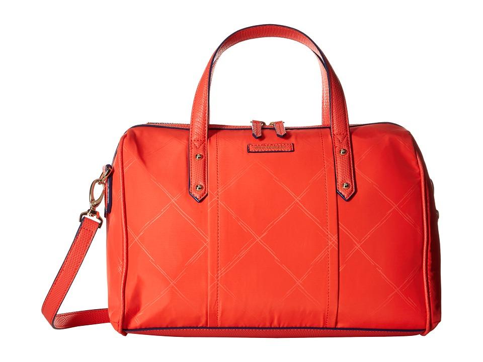 Vera Bradley - Preppy Poly Marlo Satchel (Orange) Satchel Handbags