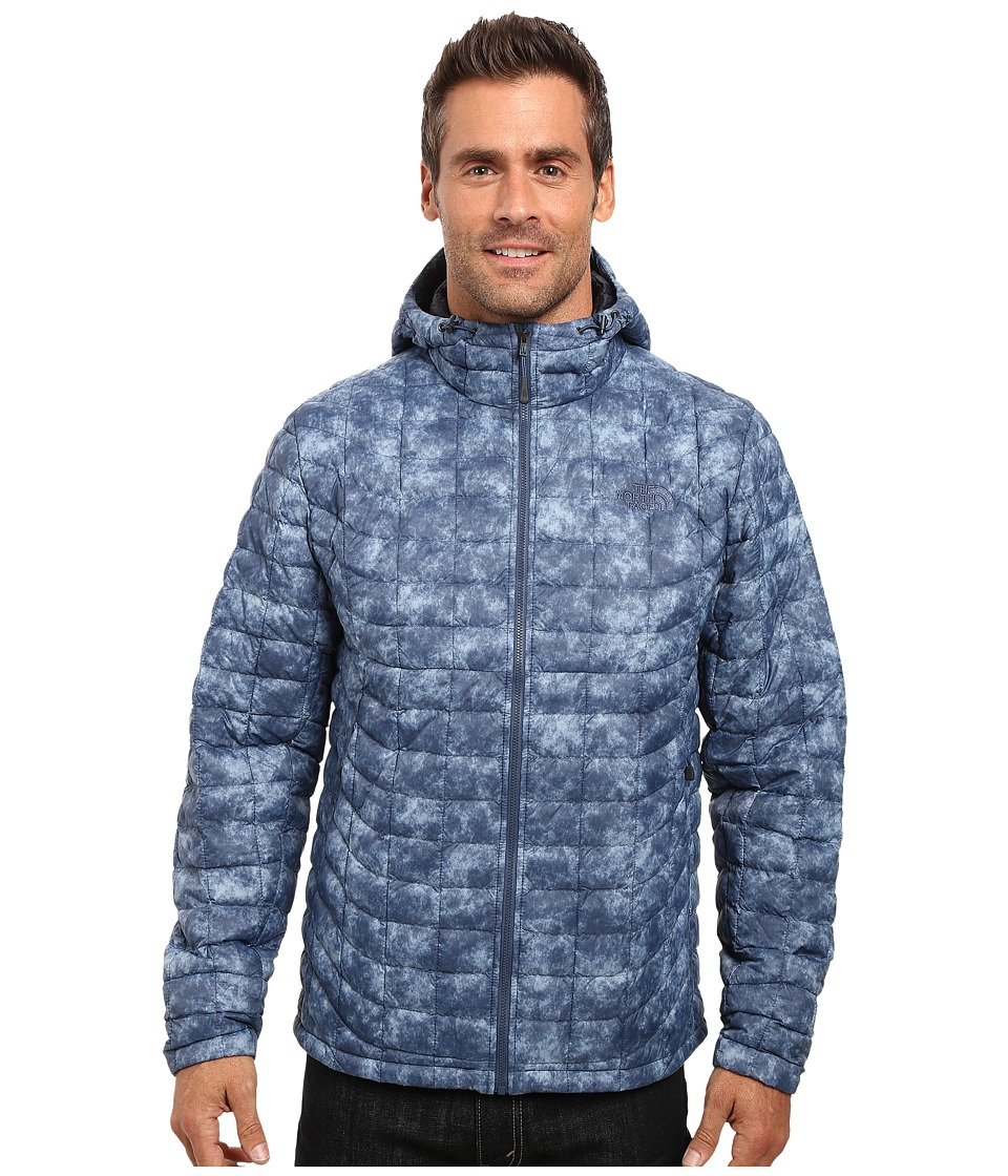 The North Face - ThermoBall Hoodie (Shady Blue Process Print) Men's Sweatshirt