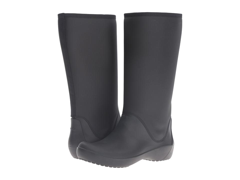 Crocs RainFloe Tall Boot Black Womens Boots