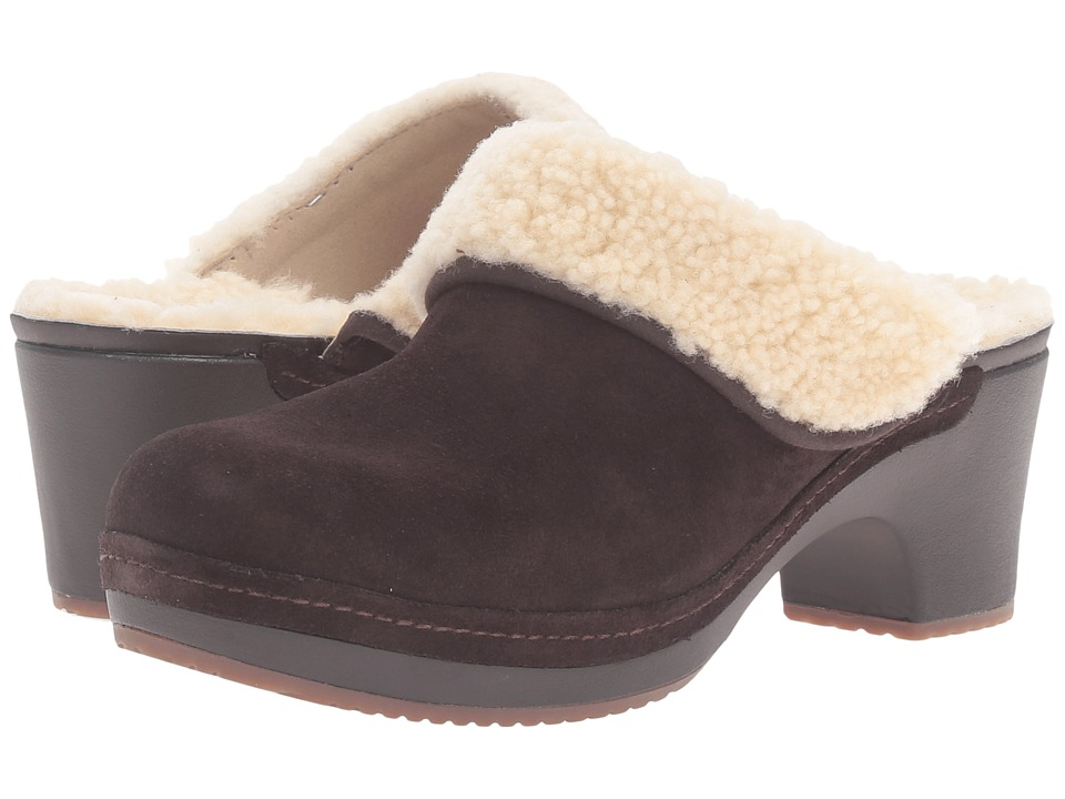 Crocs - Sarah Luxe Lined Clog (Espresso) Women's Clog Shoes