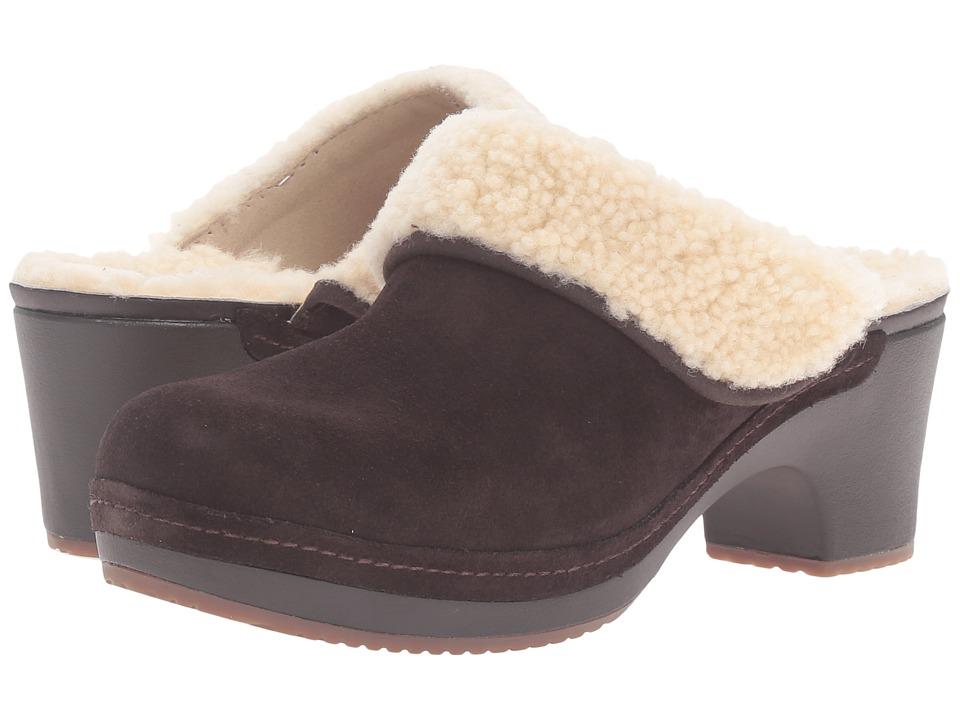 Crocs - Sarah Luxe Lined Clog (Espresso) Women's Clog Shoes
