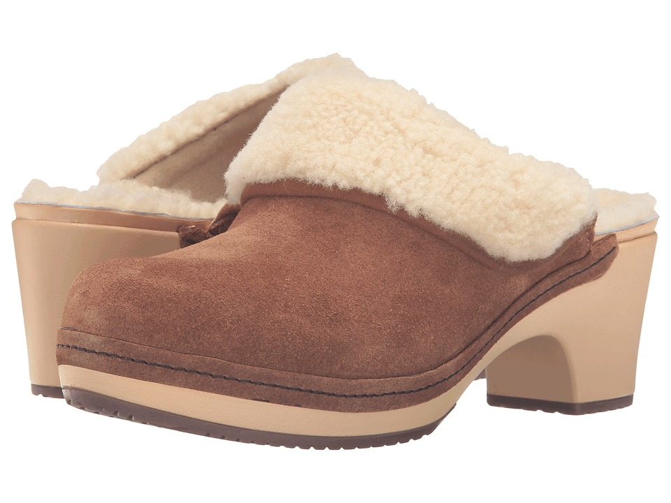 Crocs - Sarah Luxe Lined Clog (Hazelnut) Women's Clog Shoes