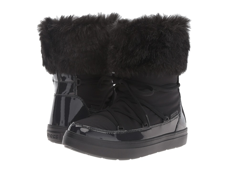 Crocs LodgePoint Lace Boot (Black) Women