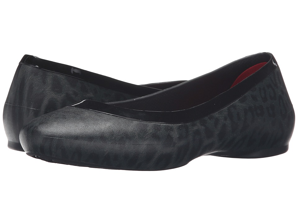 Crocs Lina Shiny Flat (Black/Black) Women