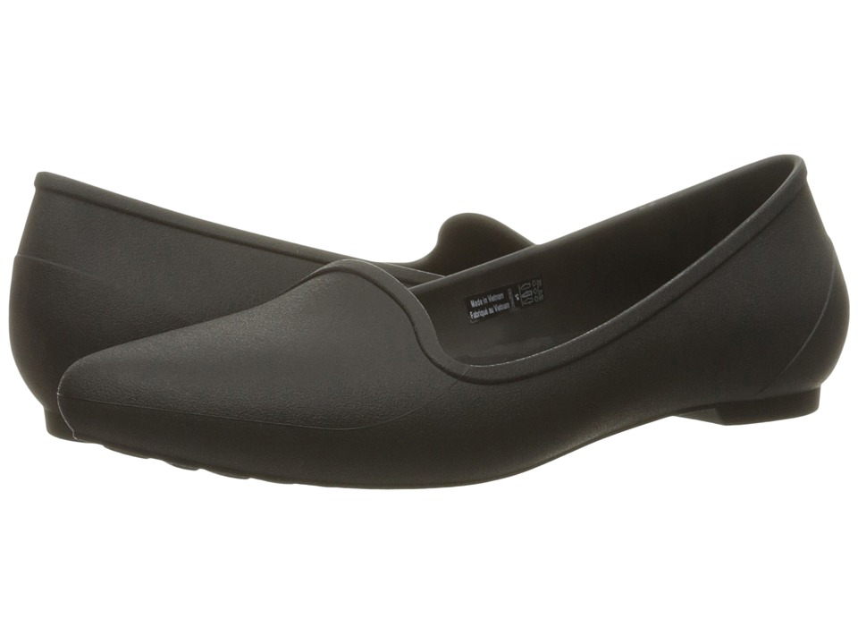 Crocs - Eve Flat (Black) Women's Flat Shoes