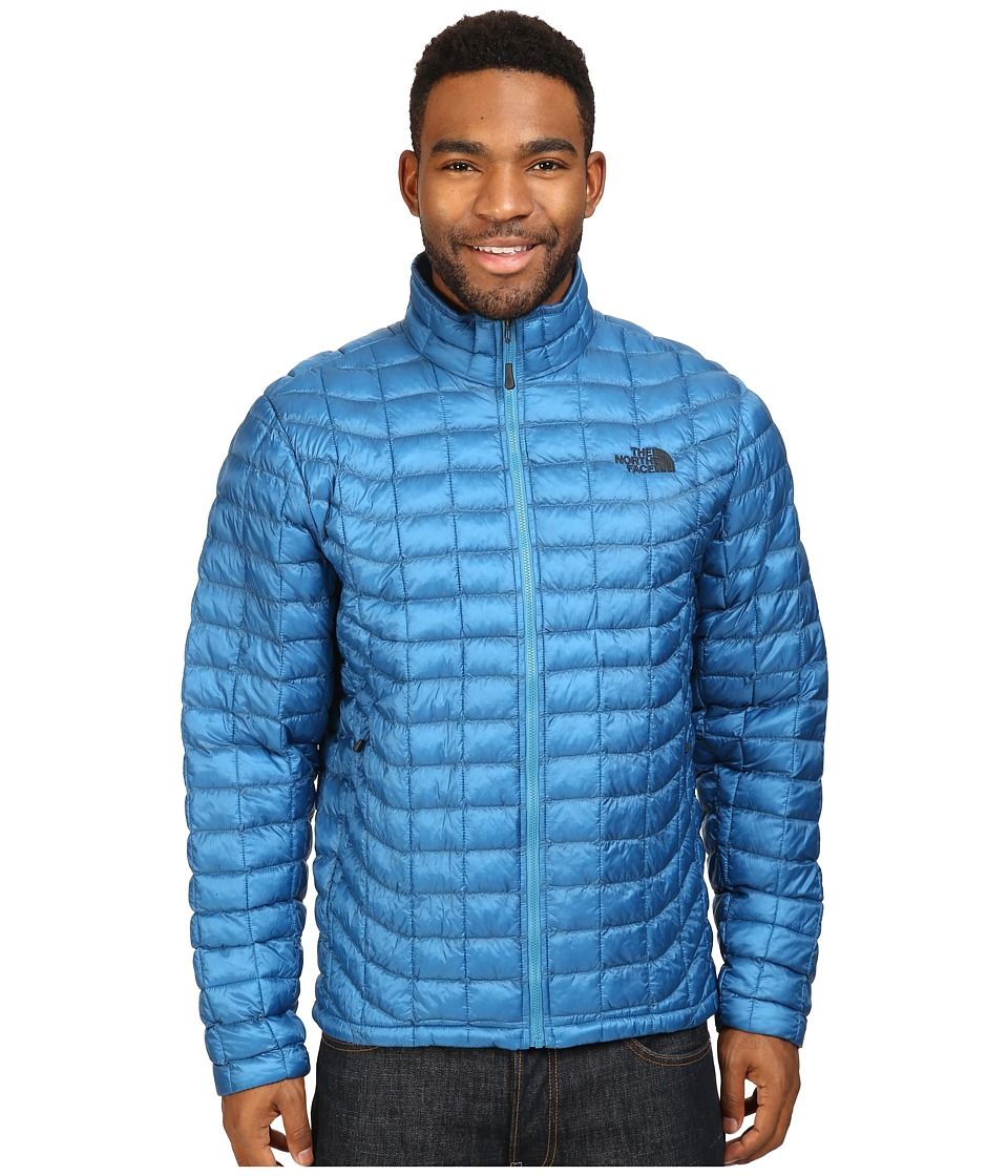 The North Face - ThermoBall Full Zip Jacket (Banff Blue) Men's Coat
