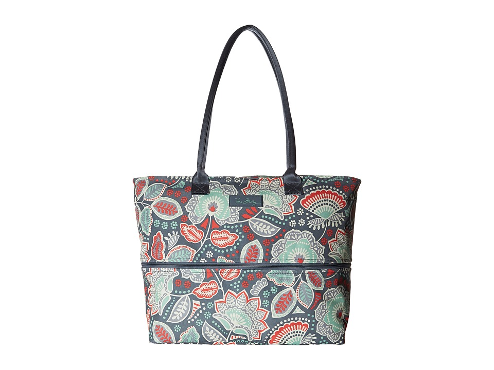 Vera Bradley Luggage - Lighten Up Expandable Travel Tote (Nomadic Floral) Tote Handbags