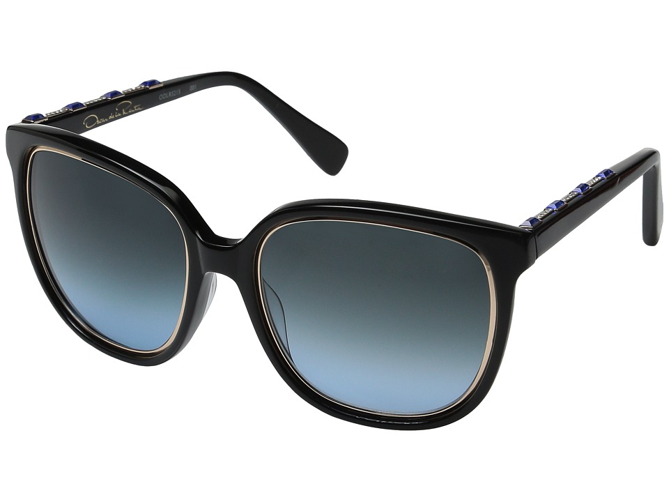 Oscar de la Renta - ODLRS-215 (Black/Crystal/Grey Blue Gradient) Fashion Sunglasses