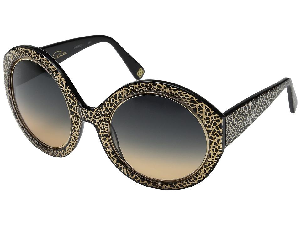 Oscar de la Renta - ODLRS-211 (Black/Smoke Amber Gradient) Fashion Sunglasses