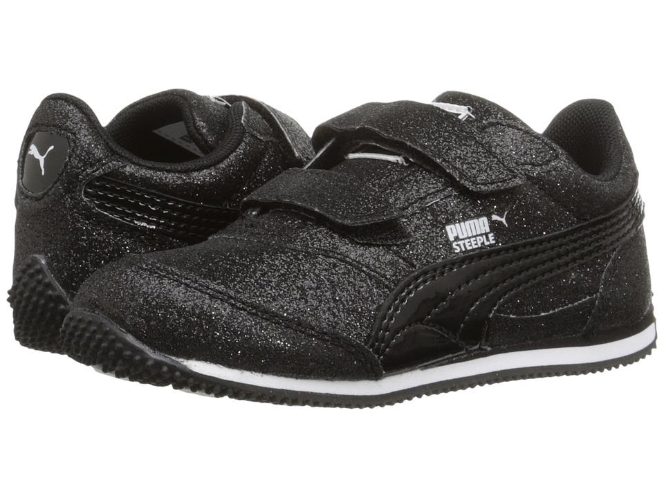Puma Kids Steeple Glitz Glam V Inf (Toddler) (PUMA Black) Girls Shoes