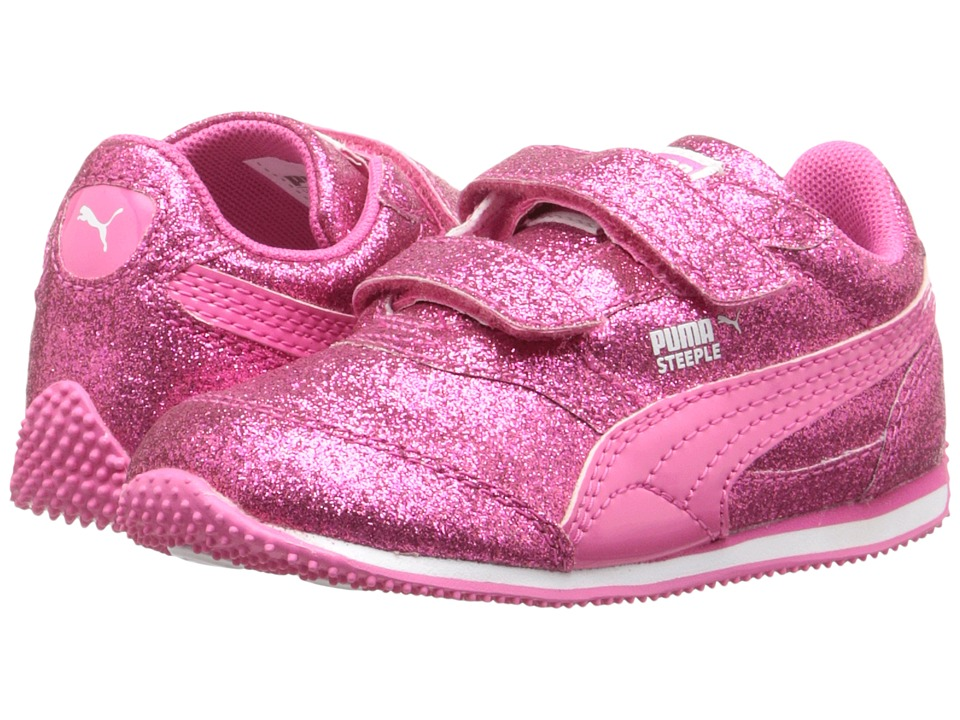 Puma Kids Steeple Glitz Glam V Inf (Toddler) (Fandango Pink) Girls Shoes