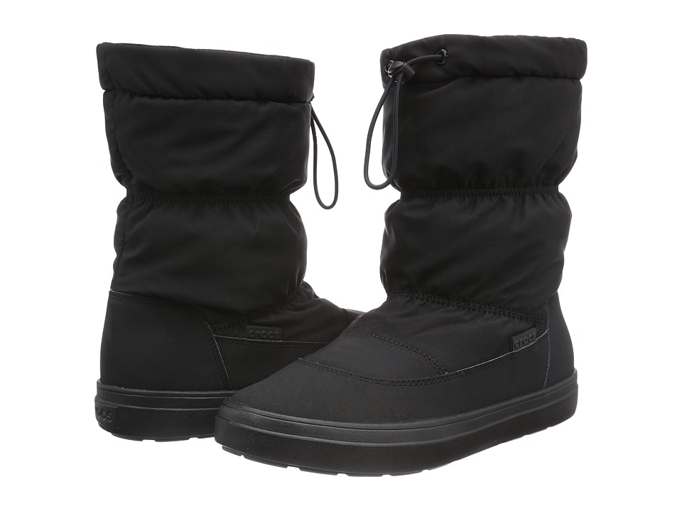 Crocs - LodgePoint Pull-On Boot (Black) Women's Boots