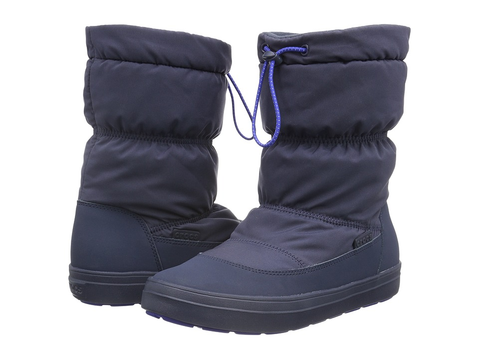 Crocs - LodgePoint Pull-On Boot (Navy) Women's Boots