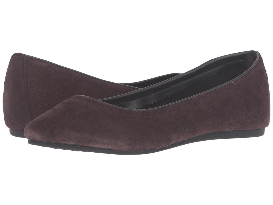 Crocs - Lina Suede Flat (Espresso) Women's Flat Shoes
