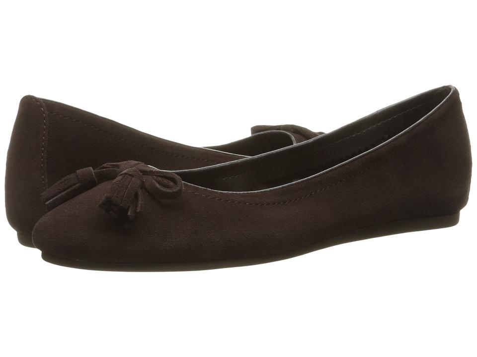 Crocs - Lina Embellished Suede (Espresso) Women's Flat Shoes