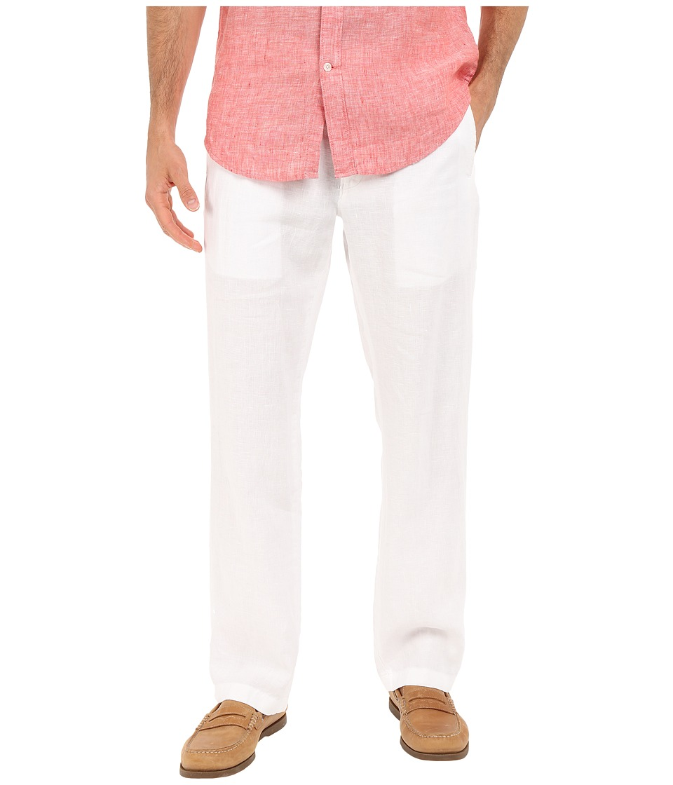 Perry Ellis - Drawstring Linen Pants (Bright White) Men's Casual Pants