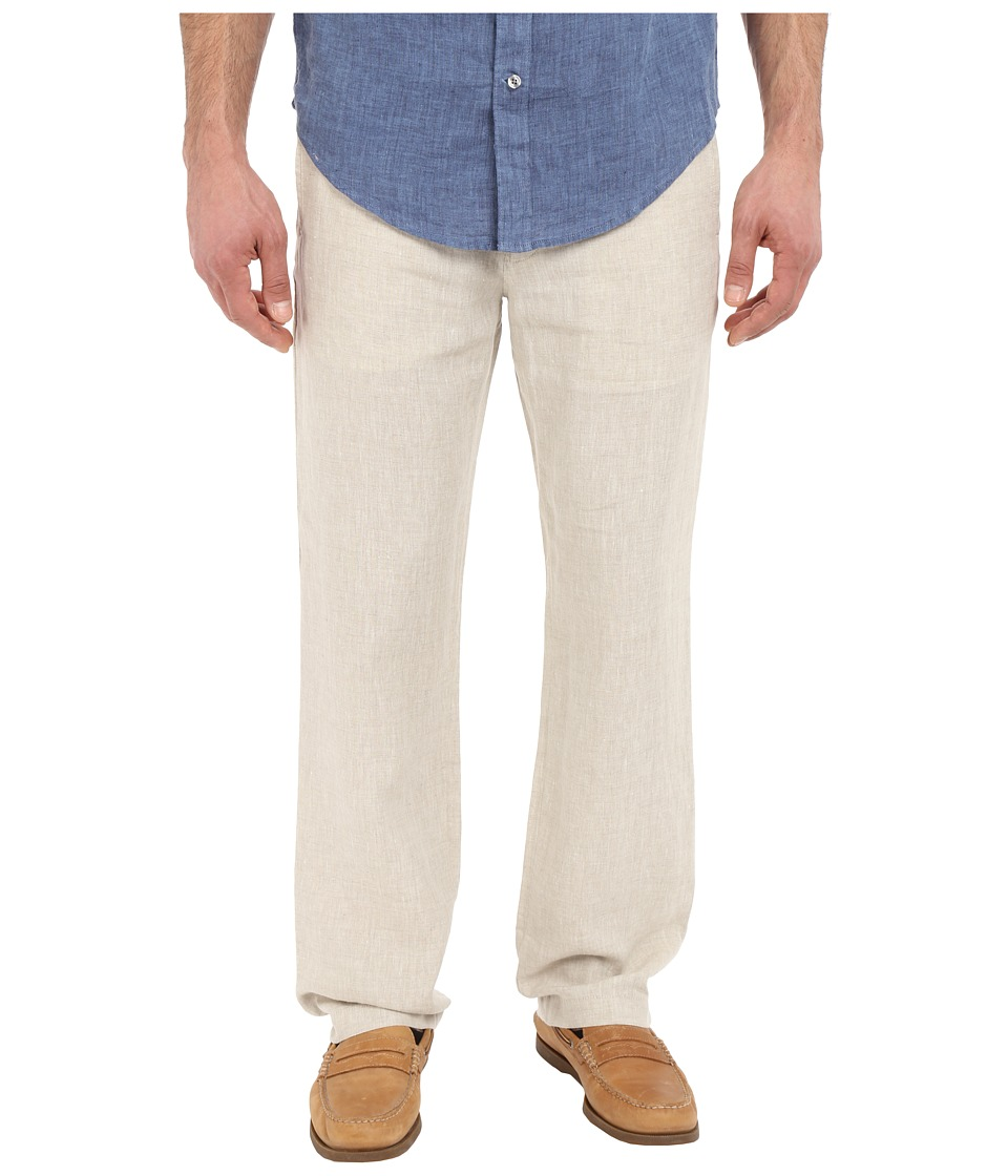 Perry Ellis - Drawstring Linen Pants (Natural Linen) Men's Casual Pants