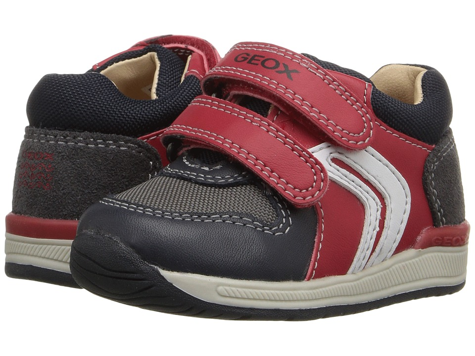 Geox Kids - Baby Rishon Boy 1 (Infant/Toddler) (Red/Navy) Boy's Shoes