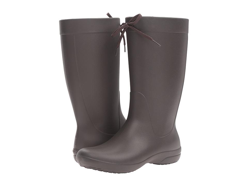 Crocs - Freesail Rain Boot (Espresso) Women's Boots