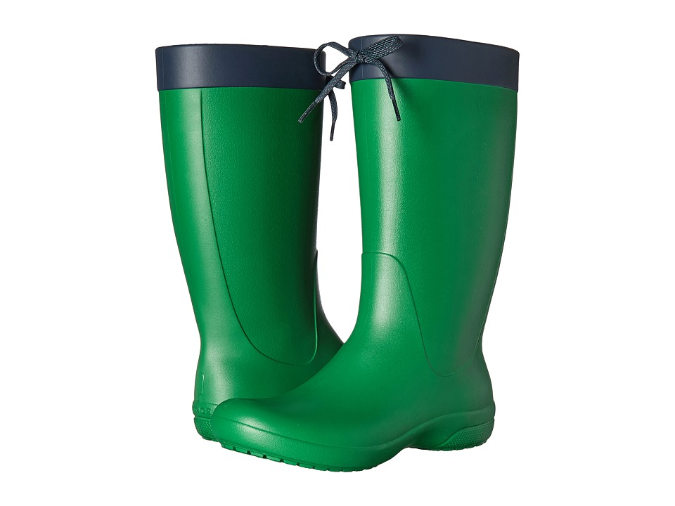 Crocs - Freesail Rain Boot (Kelly Green) Women's Boots