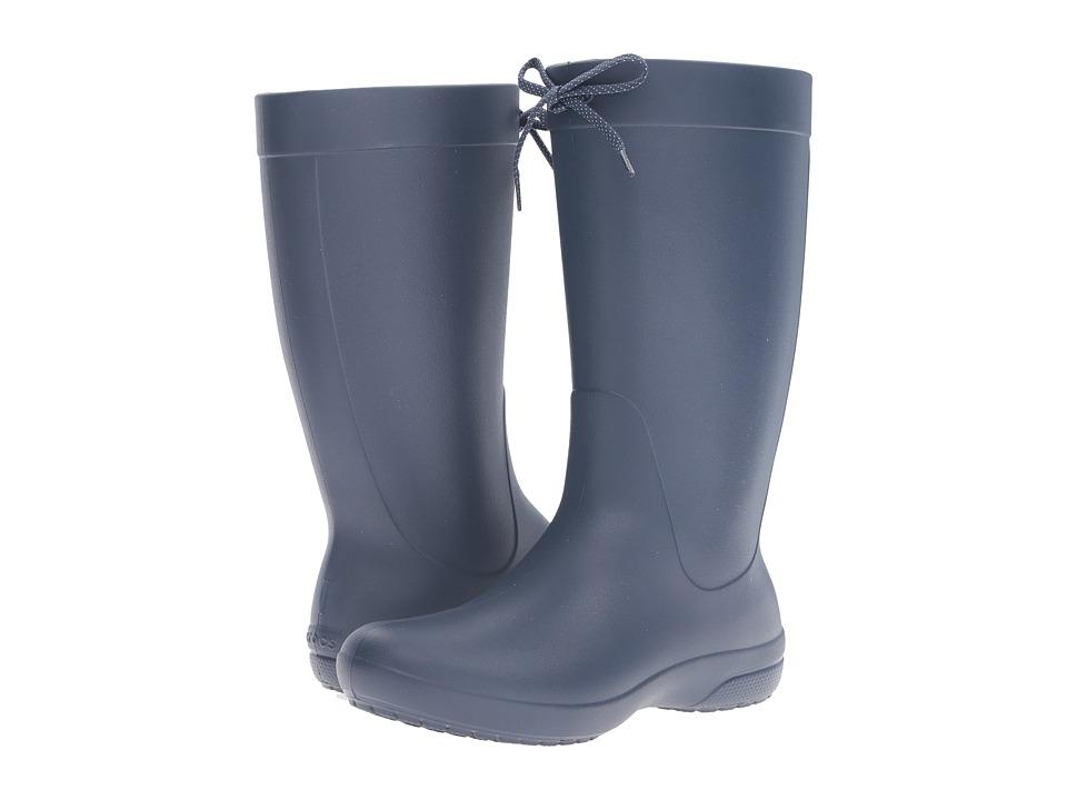 Crocs - Freesail Rain Boot (Navy) Women's Boots