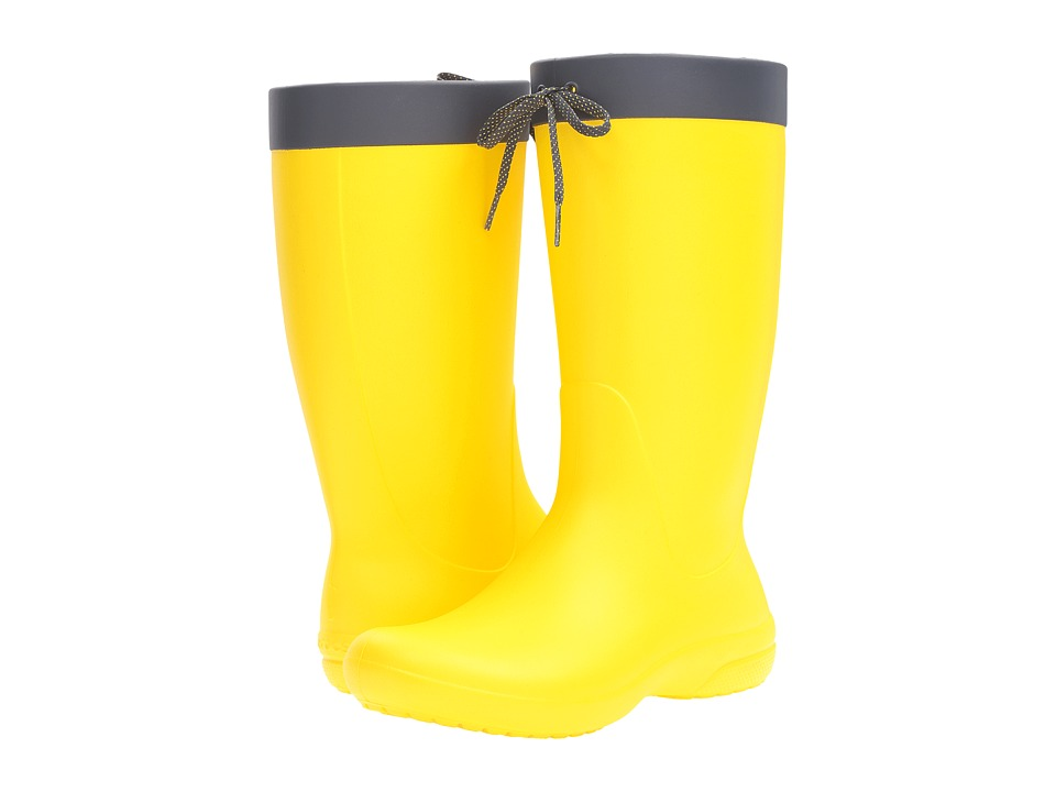 Crocs - Freesail Rain Boot (Lemon) Women's Boots