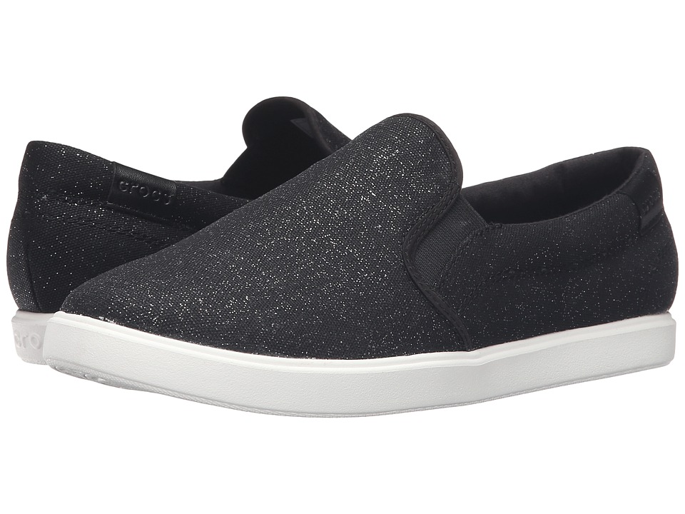 Crocs CitiLane Slip-On Sneaker (Black Shimmer) Women