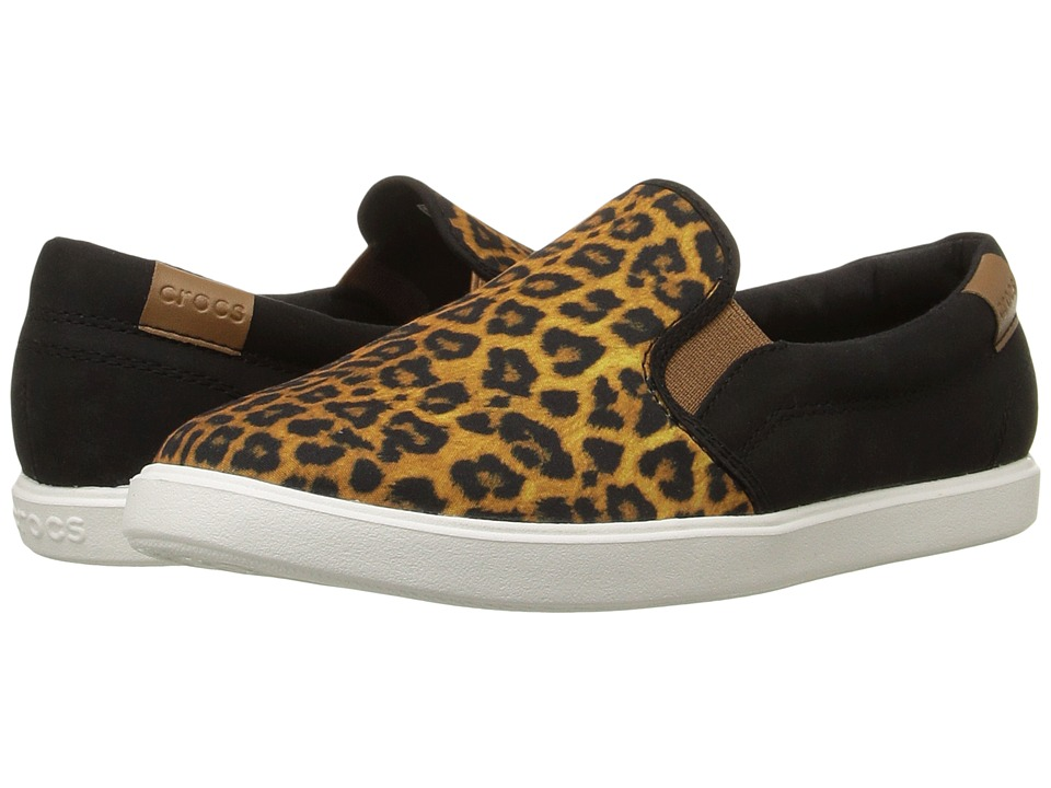 Crocs - CitiLane Slip-On Sneaker (Leopard/Black) Women's Slip on Shoes