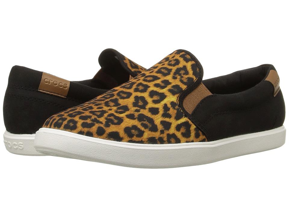 Crocs CitiLane Slip-On Sneaker (Leopard/Black) Women