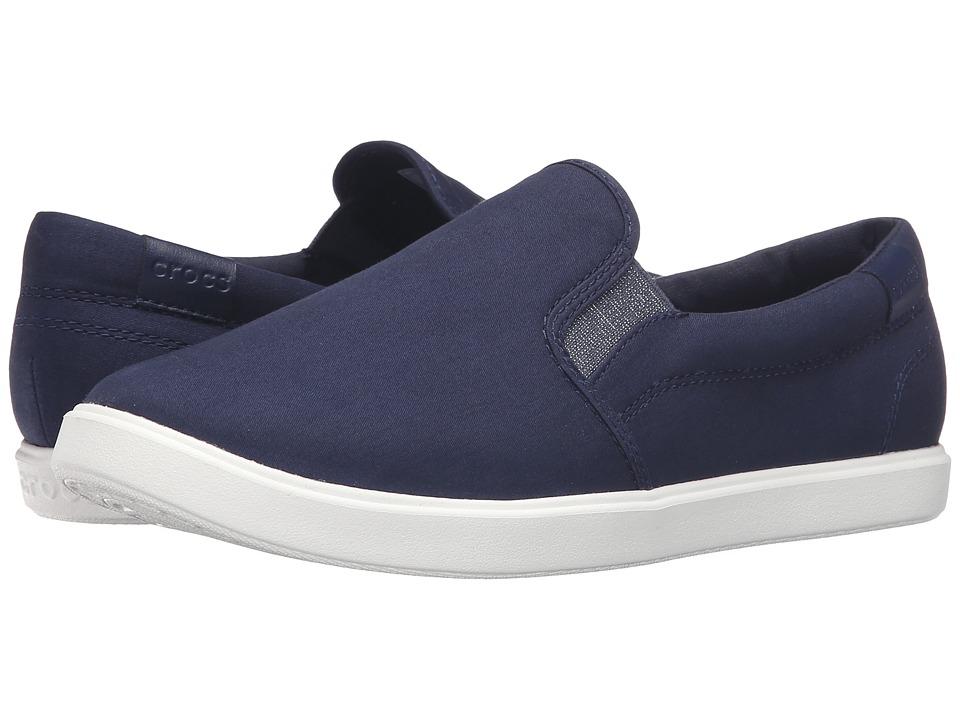 Crocs - CitiLane Slip-On Sneaker (Navy) Women's Slip on Shoes
