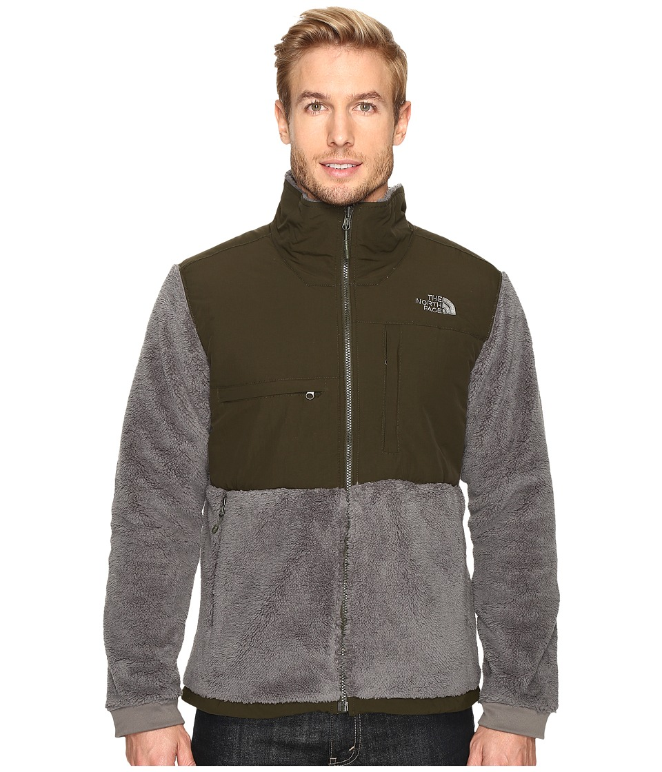 The North Face - Novelty Denali Jacket (Fusebox Grey Sherpa/Rosin Green (Prior Season)) Men's Jacket