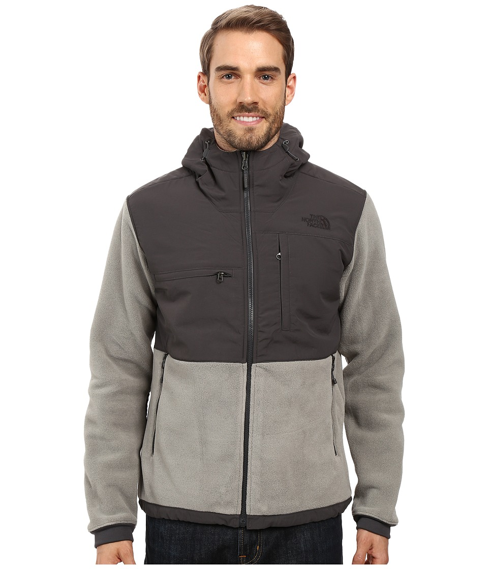 The North Face - Denali 2 Hoodie (Recycled Moon Mist Grey/Asphalt Grey) Men's Sweatshirt