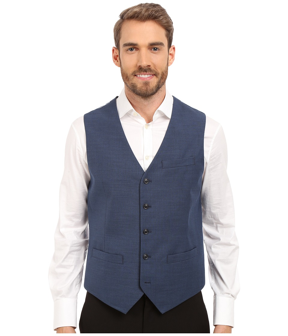 Perry Ellis - Solid Texture Suit Vest (Bay Blue) Men's Vest