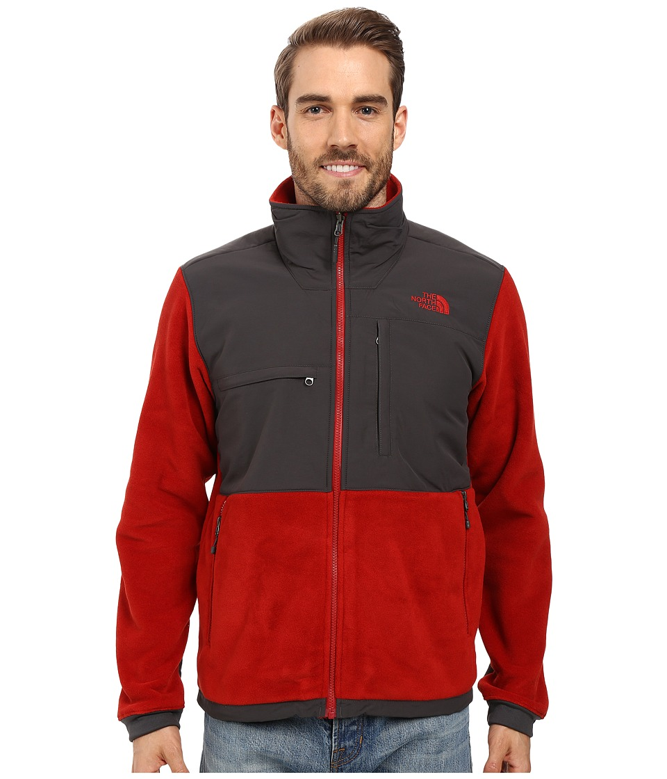 The North Face - Denali 2 Jacket (Recycled Cardinal Red/Asphalt Grey) Men's Coat