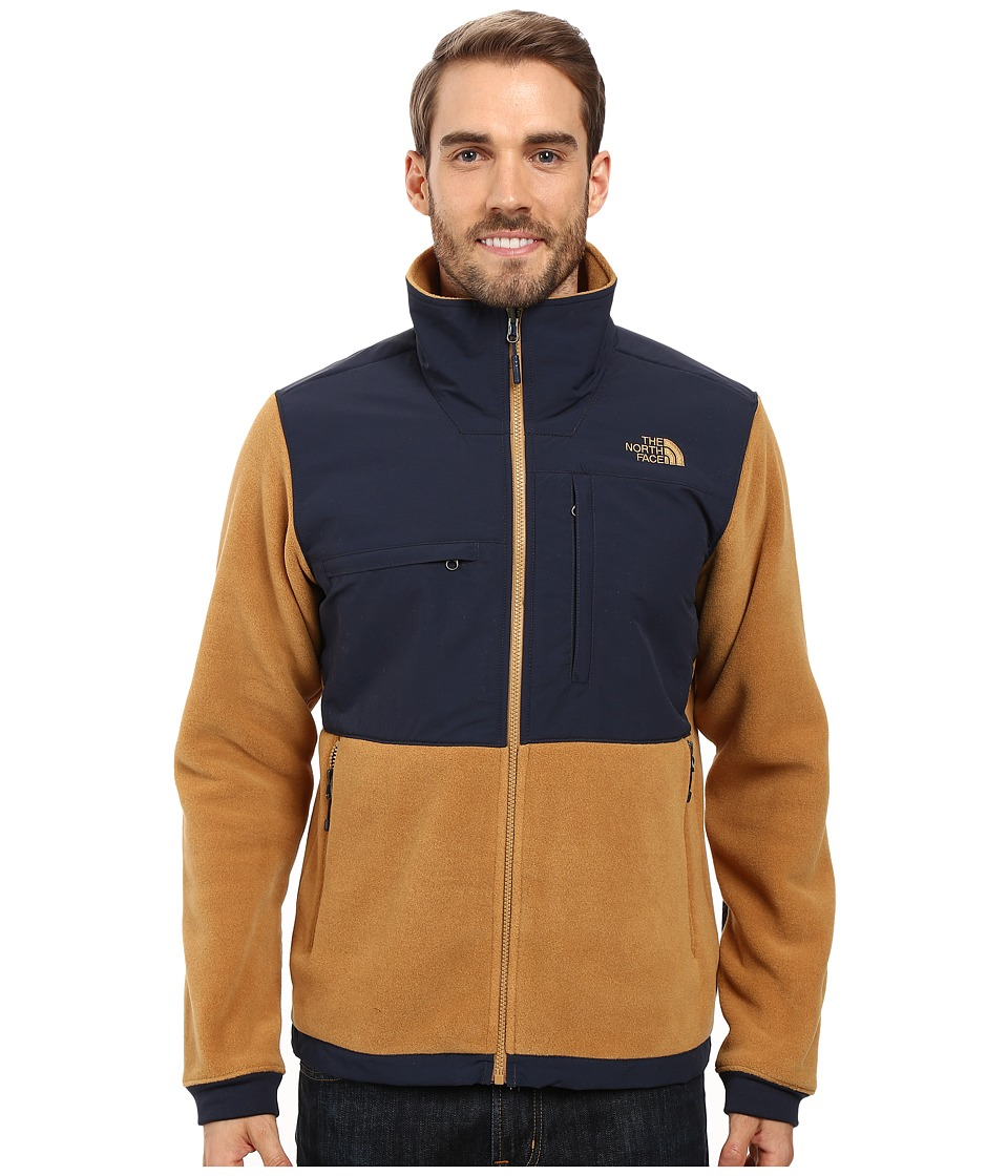 The North Face - Denali 2 Jacket (Recycled Dijon Brown/Urban Navy) Men's Coat