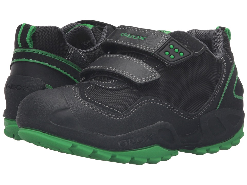 Geox Kids - Jr New Savage Boy 2 (Toddler/Little Kid) (Black/Greenfluo) Boy's Shoes
