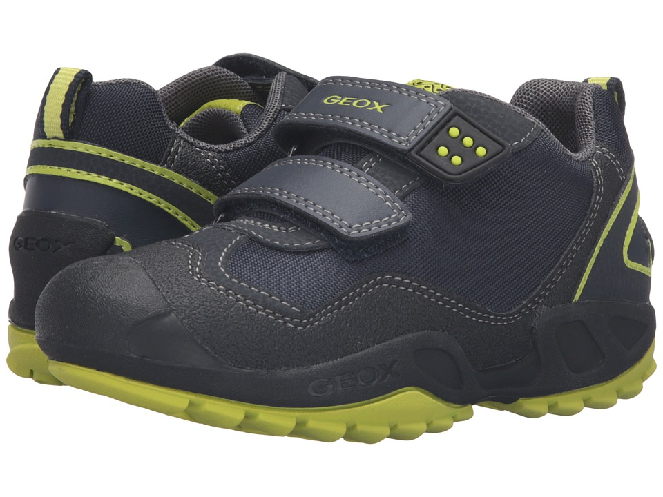 Geox Kids - Jr New Savage Boy 2 (Toddler/Little Kid) (Navy/Lime Green) Boy's Shoes