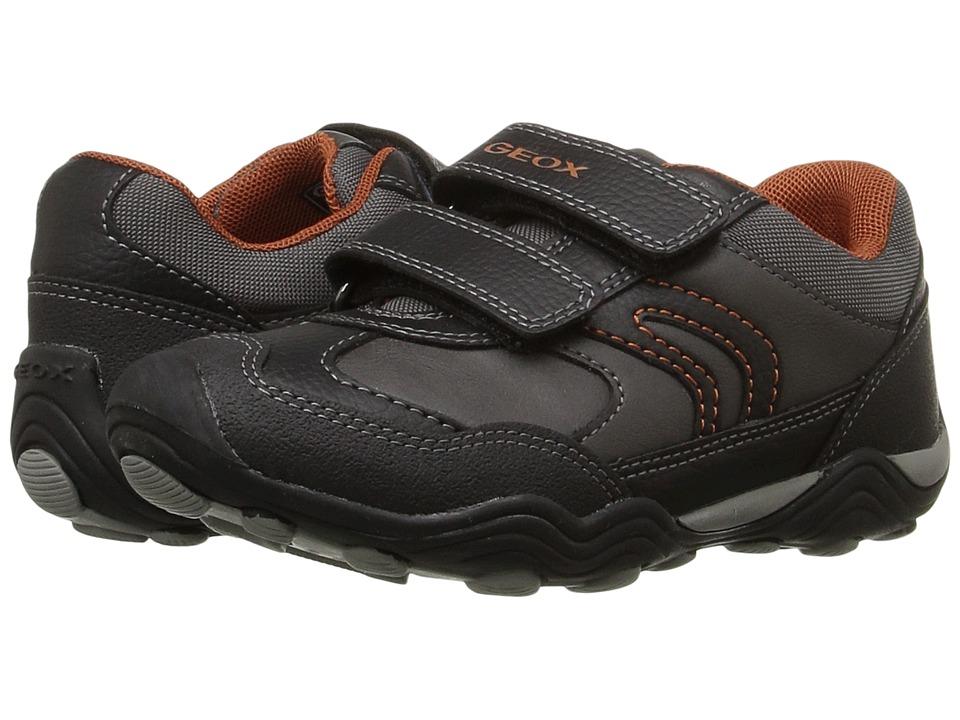Geox Kids - Jr Arno 14 (Toddler/Little Kid) (Grey/Orange) Boy's Shoes