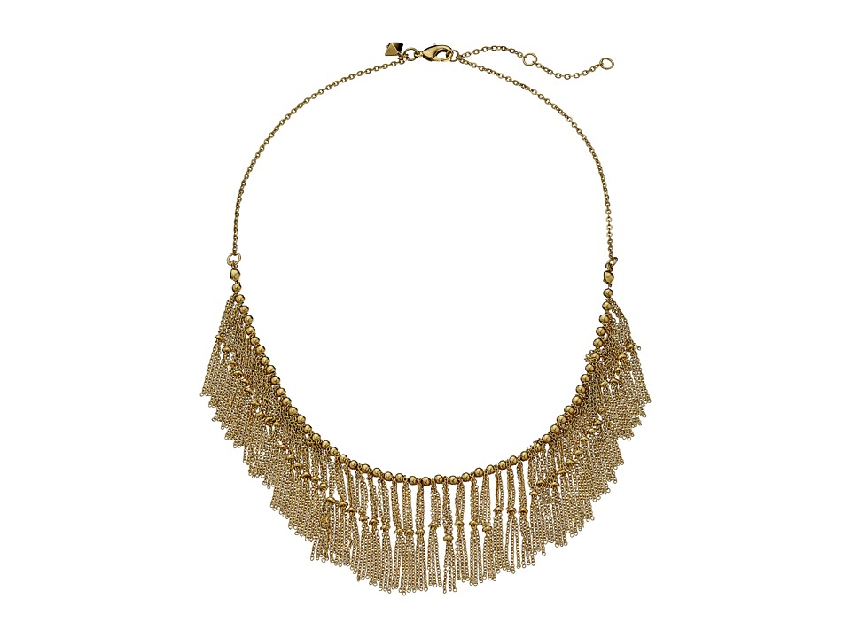 Rebecca Minkoff - Beaded Fringe Collar Neck Necklace (12K) Necklace