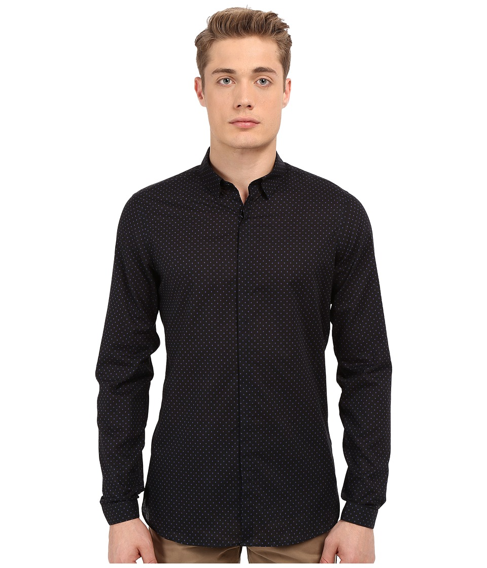 The Kooples - All Star Shirt (Navy) Men's Long Sleeve Button Up