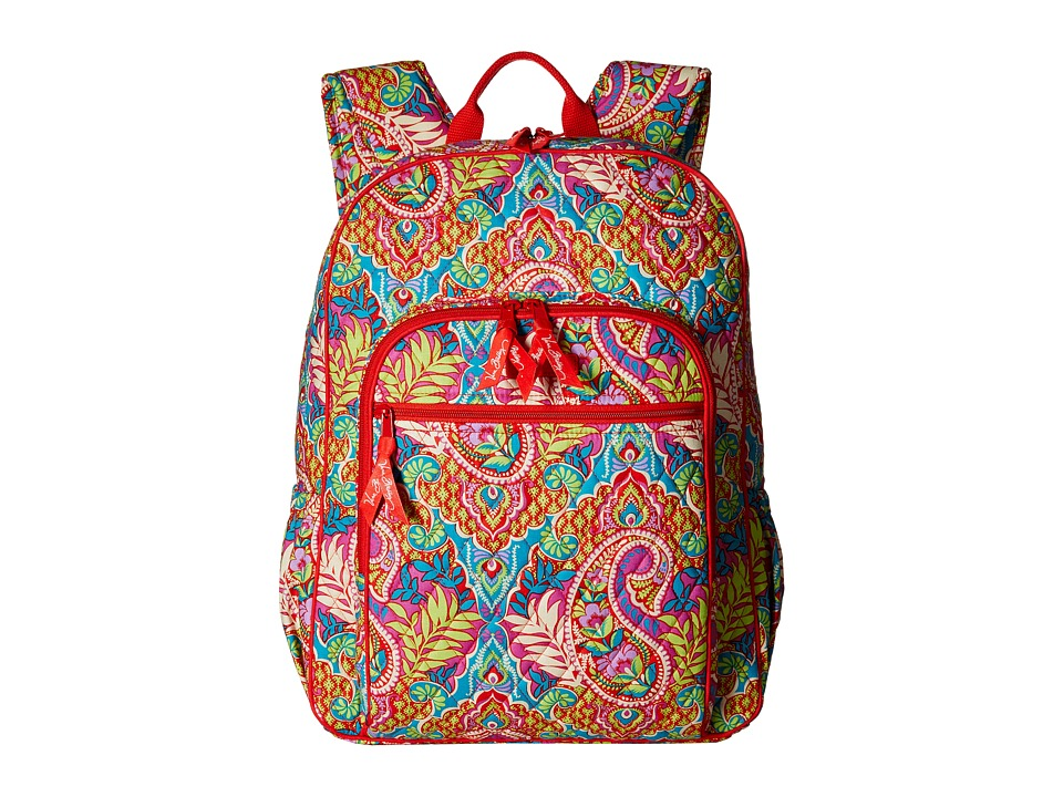 Vera Bradley - Campus Backpack (Paisley in Paradise) Backpack Bags