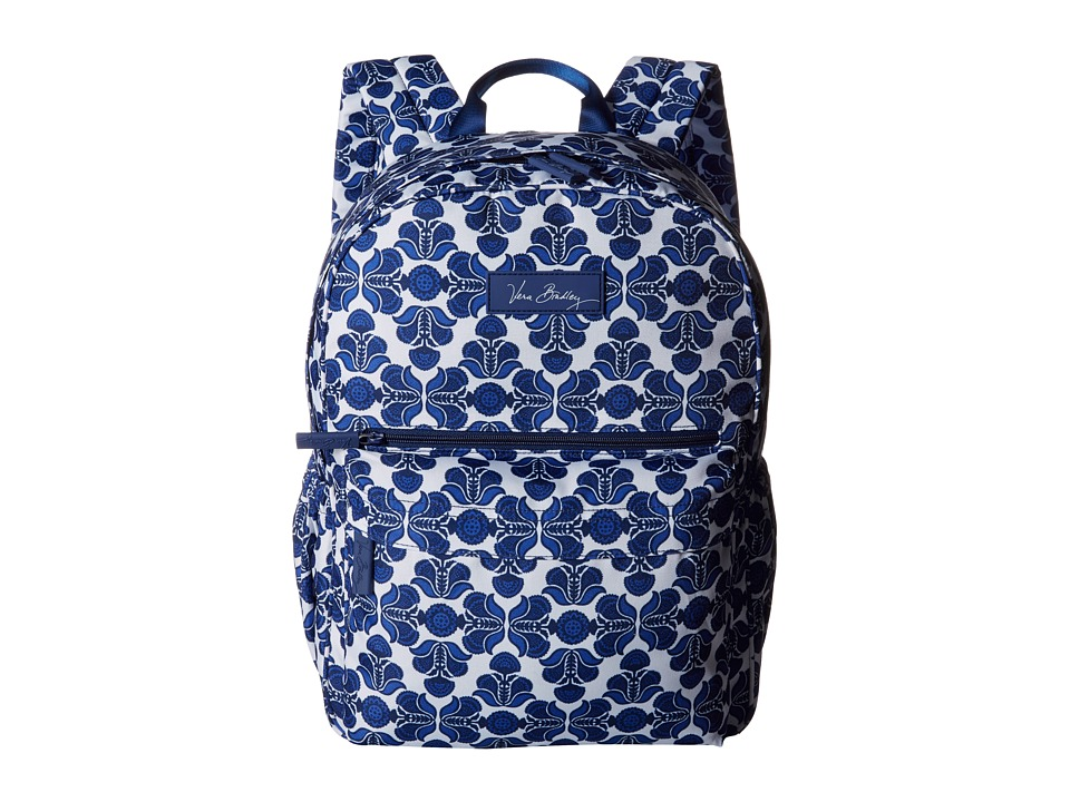Vera Bradley - Lighten Up Just Right Backpack (Cobalt Tile) Backpack Bags