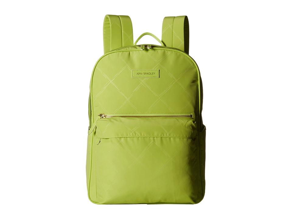 Vera Bradley - Preppy Poly Large Backpack (Citrine) Backpack Bags