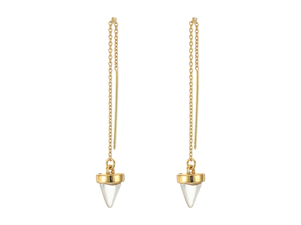 Rebecca Minkoff - Acorn Crystal Threader Earrings (Rose Gold with Rose Quartz) Earring
