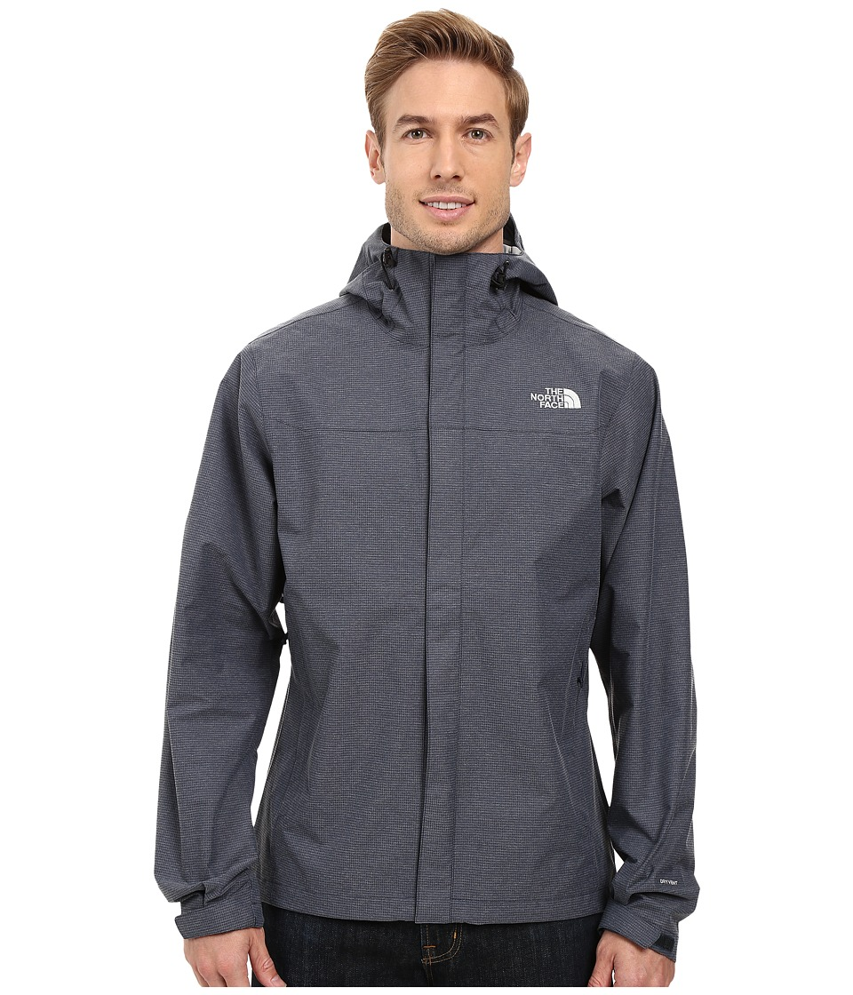 The North Face - Venture Jacket (Outer Space Blue Heather) Men's Coat