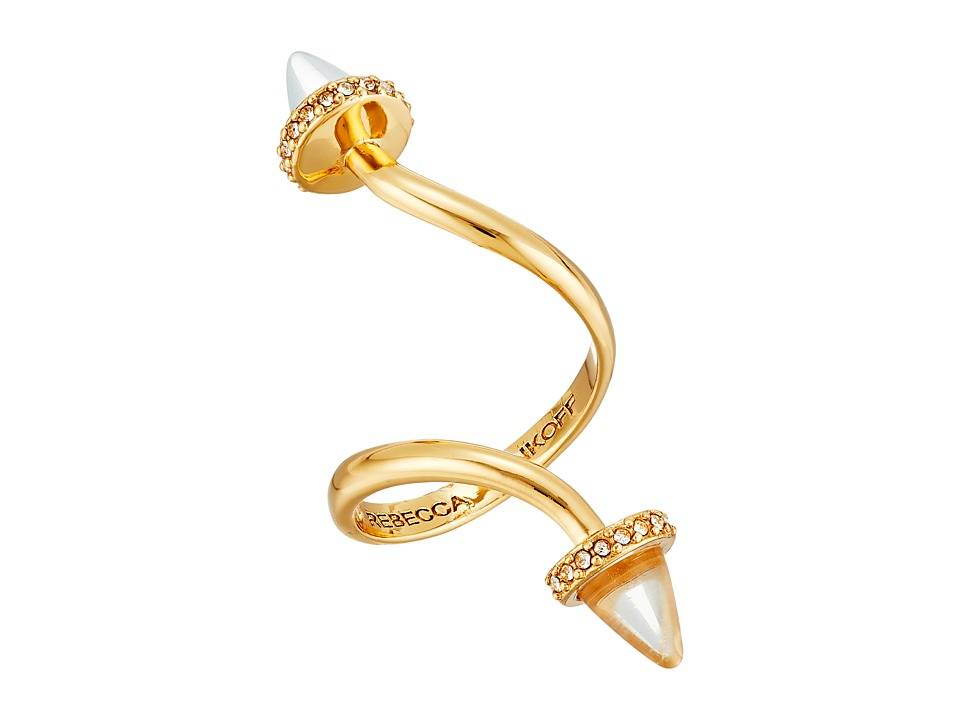 Rebecca Minkoff - Acorn Twist Ring (12K with Crystal) Ring