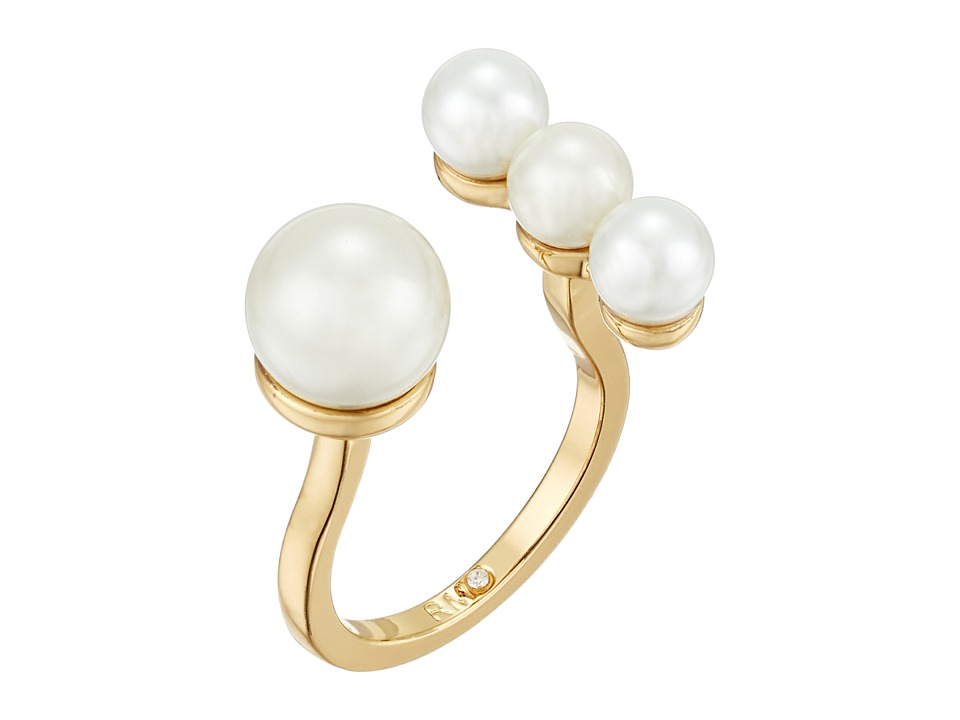 Rebecca Minkoff - Beaded U Ring (12K with Pearl) Ring